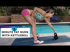 5 Minute Fat Burning Workout #79 - Kettlebell Swing - YouTube