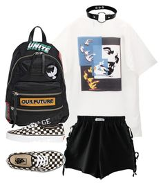 """""""Untitled #1769"""" by emmastrouse ❤ liked on Polyvore featuring M.Y.O.B., Marc by Marc Jacobs and Vans"""