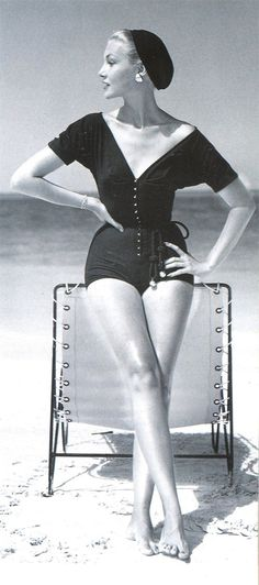 Claire McCardell vintage swimsuit 1953
