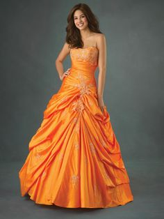 if i decide to get married in a dress, it will be orange or yellow!