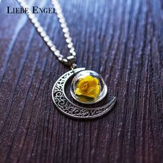 Find More Pendant Necklaces Information about LIEBE ENGEL 2017 Fashion Paper Flower Necklace & Pendant Jewelry Vintage Silver Color Chain Moon Glass Choker Statement Necklace,High Quality jewelry for boys necklaces,China jewelry panda Suppliers, Cheap necklace love from LIEBE ENGEL Official Store on Aliexpress.com