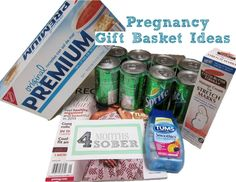 rnlMusings: Baby Week :: Preggo & New Parent's Gift Basket Ideas Pregnancy Gift Baskets, Pregnancy Gifts, Pregnancy Fashion, Themed Gift Baskets, Diy Gift Baskets, Boyfriend Gift Basket, Boyfriend Gifts, Simple Gifts, Cool Gifts