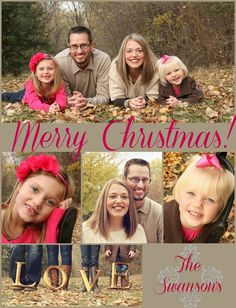 Think Pink Christmas Card
