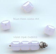 6mm VIOLET OPAL Swarovski Crystals 5601 Cubes - 6