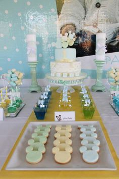 Baby Mickey Mouse Party Ideas from Fête à Porter Featured @ www.partyz.co your party planning search engine!