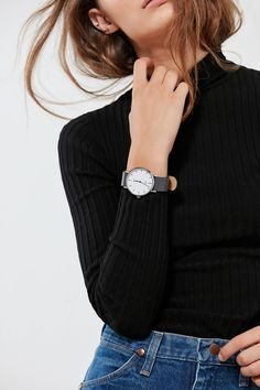 Timex Fairfield Leather Watch | Urban Outfitters