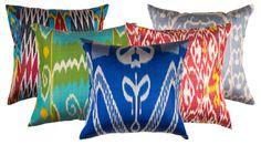 Silk Ikat Pillows