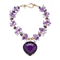 .191ctw Amethyst & 18kt Gold Necklace