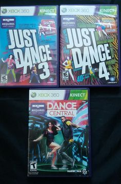LOT OF 3 DANCE GAMES XBOX 360 - JUST DANCE 3 - JUST DANCE 4 - DANCE CENTRAL | Video Games & Consoles, Video Games | eBay!