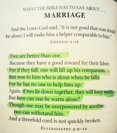 bible verses for marriage problems