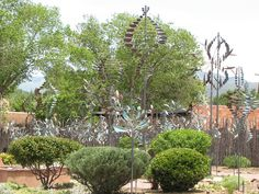 Kinetic wind sculpture garden -- this has to be all kinds of fun on a breezy day!