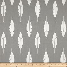 Premier Prints Feather Silhouette Twill Storm from @fabricdotcom  Screen printed on cotton twill; this versatile lightweight (approx. 5.7 ounce) fabric is perfect for window treatments (draperies, valances, curtains and swags), toss pillows, bed skirts, duvet covers, some upholstery and other home decor accents. Create handbags, apparel (skirts, lightweight jackets, pants) and aprons.
