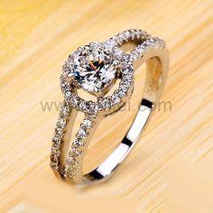 0.5 Carat Diamond Promise Ring for Girlfriend Custom Engraving