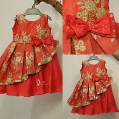 Baby frocks designs - Different Types of Frock Designs for Kids ArtsyCraftsyDad Kids Dress Wear, Kids Gown, Children Dress, Children Toys, Girls Frock Design, Baby Dress Design, Frock Patterns, Baby Dress Patterns, Baby Frock Pattern