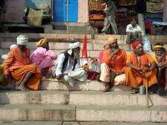 At the banks of the Ganges