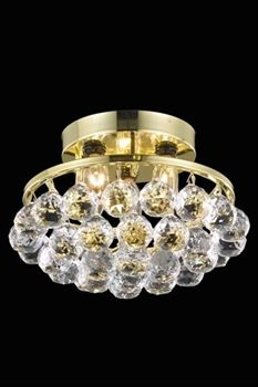 Illuminate any room in your home in style with this three-light modern chandelier. This flush-mount chandelier is finished in a gold color and features crystal drops for an instant air of sophistication. Flush Mount Chandelier, Gold Chandelier, Flush Mount Lighting, Modern Chandelier, Chandelier Lighting, Ceiling Fixtures, Ceiling Lights, Candelabra Bulbs, Crystal Drop
