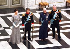 Prince Frederik The Danish Royal Family attends attends a New Years reception held at Christianborg Palace.