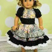 Joy's Lace Twirly Dress Doll Size - via @Craftsy