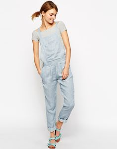 "Dungarees by Sessun Pure linen Square neckline Pocketed design Button detailing Regular fit - fits true to size Machine wash 100% Linen Our model wears a UK 8/EU 36/US 4 and is 173cm/5'"" tall"