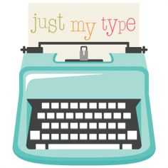Just My Type SVG file typewriter svg cut file cute svgs cute svg cuts free scal files for cricut Silhouette Cameo, Silhouette Online Store, Silhouette Projects, Silhouette Design, Printable Scrapbook Paper, Printable Crafts, Printables, Cute Clipart, Silhouette America