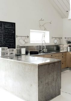 Pretty sure all I need is some cement and metal and I'm happy.     Industrial Modern Scandinavian Kitchen | Scandinavian Handcrafts & Design,  Go To www.likegossip.com to get more Gossip News!