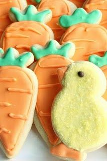 Easter Cookies - carrots :)