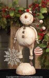 "Frosty Design By: Karen & Mary Hammerschmidt Material: Paper Pulp Plaster Size: 13"""