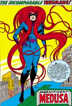 MEDUSA! • Inhumans pin-ups by Jack Kirby from Fantastic Four...