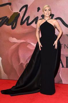 Lady Gaga in Brandon Maxwell attends The Fashion Awards 2016. #bestdressed