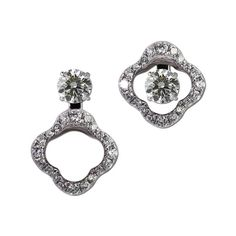 Gottlieb & Sons 28931B - Floral convertible earring jackets. (studs sold separately)