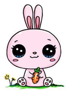 Cant wait for the Easter Bunny 365 Kawaii, Arte Do Kawaii, Chibi Kawaii, Kawaii Doodles, Cute Doodles, Kawaii Art, Cute Easy Drawings, Cute Kawaii Drawings, Cute Animal Drawings