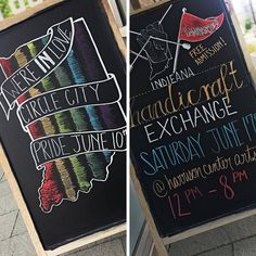 We've got some new designs up on our chalkboard! Two great events coming up in Indy! What a busy June! Woot Woot! @indypride @indieanahandicraftexchange