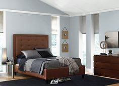 This is the project I created on Behr.com. I used these colours: DISTANT STAR(MQ5-31),