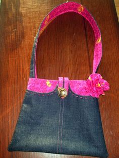 Purse from denim...