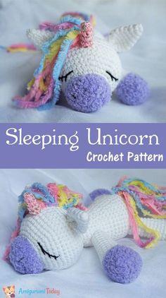 Use this Sleeping Unicorn Pony Doll crochet pattern to create a wonderful plush toy. The crochet pattern is FREE! Use this Sleeping Unicorn Pony Doll crochet pattern to create a wonderful plush toy. The crochet pattern is FREE! Amigurumi Free, Crochet Patterns Amigurumi, Amigurumi Doll, Crochet Dolls, Crochet Stitches, Crochet Unicorn Pattern Free, Free Pattern, Diy Crochet Unicorn, Crochet Unicorn Blanket