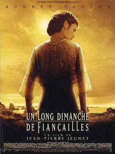 """Un long dimanche de fiançailles est un film de Jean-Pierre Jeunet avec Audrey Tautou, Gaspard Ulliel. Synopsis : En 1919, Mathilde a 19 ans. Deux ans plus tôt, son fiancé Manech est parti sur le front de la Somme. Comme des millions d'autres, il est """"mort au"""