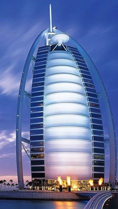 Burj Al Arab Hotel, Dubai, United Arab Emirates.   This is a beautiful hotel, hopefully we may be moving to this country.