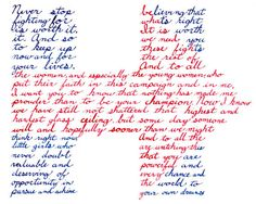 """This piece is from my Thats What She Said series quoting women throughout history. In this piece I have created Hillary Clintons 2016 logo out of a portion of the text from her concession speech. the quote reads: """"Never stop believing that fighting for what's right is worth it. It is worth it. And so we need you to keep up these fights now and for the rest of your lives. And to all the women and especially the young women who out their faith in this campaign and in me, I want you to know…"""
