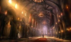 Fairfax Castle Throne Hall Characters & Art Fable 2 Fantasy castle Medieval fantasy Throne room