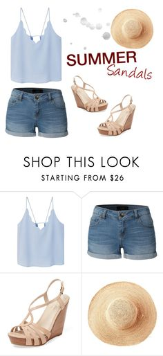 """summer sandals"" by abha-garg ❤ liked on Polyvore featuring MANGO, LE3NO, Seychelles, Toast and summersandals"