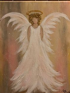 Love love love the dress and wings! - Painting Ideas On Canvas Christmas Canvas, Christmas Paintings, Christmas Art, Xmas, Tole Painting, Diy Painting, Painting & Drawing, Angel Artwork, Angel Wings Painting