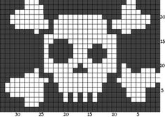 Crazy skull and bones pattern by Alexander Rusch