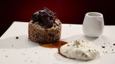MKR4 Recipe - Chocolate Pecan Meringue Cake with Coffee Dates and Vanilla Sour Cream