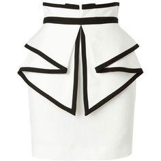 Sass & Bide To Laugh Out Loud Tailored Skirt With Peplum Detail (20.450 RUB) ❤ liked on Polyvore featuring skirts, mini skirts, bottoms, saias, faldas, ivory, short white skirt, white skirt, white peplum skirt and peplum mini skirt