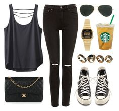 """Sin título #12925"" by vany-alvarado ❤ liked on Polyvore featuring Kavu, Ray-Ban, Converse, Chanel, Casio and ALDO"