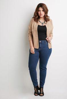 Plus Size Classic Skinny Jeans (Short)