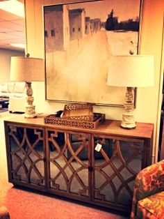 Mirrored Console And Art Op Jenkins Furniture Design Interior Services New Living