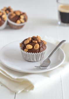 Healthy Snickers muffins -oats - sugarfree