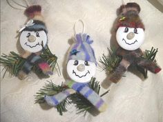 Tea Light Snowman Ornament by notjustknots on Etsy, $5.00