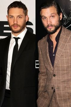Nup - Tom's way hotter (and far superior actor), but yeah I can see how the less Tom-obsessed may get them confused. They could def play brothers at some stage. Seeing Double: Tom Hardy And Logan Marshall-Green Most Beautiful Man, Beautiful People, Amazing People, Tom Hardy Hot, Tom Hardy Beard, Logan Marshall Green, Star Wars, Wife And Kids, Hollywood Celebrities